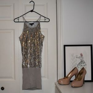 bebe Sequin Mini Dress